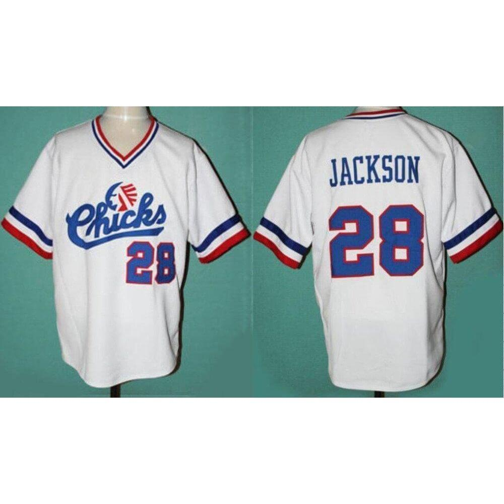 Bo Jackson Chicks Baseball Jersey White Stitched 28 - Jersey Champs