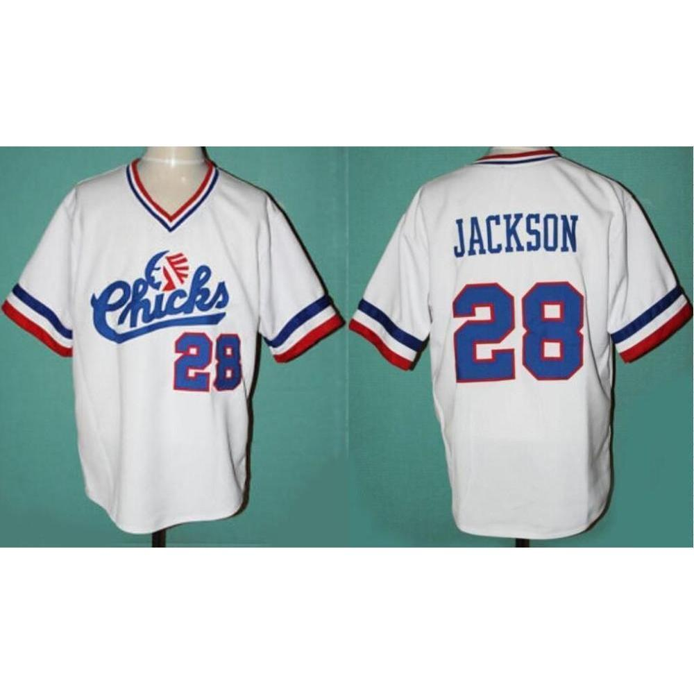 1dd0f378d Memphis Chicks Jackson 28 Baseball Jersey - Jersey Champs - Custom  Basketball