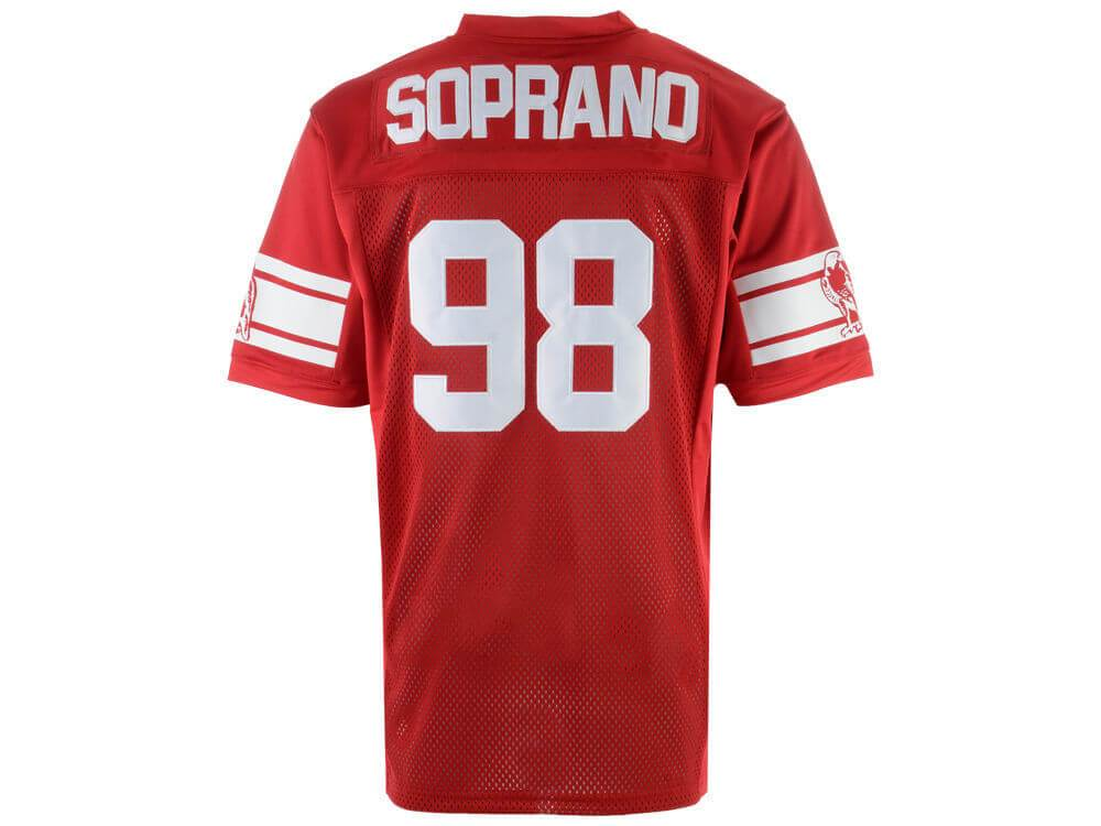 AJ Soprano Jersey Sopranos #98 American Football Jersey - Jersey Champs