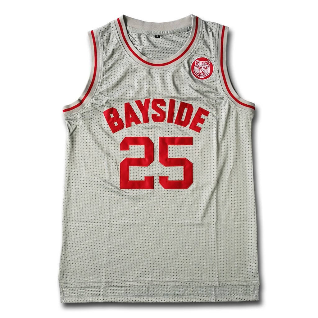 The Bell Zack Morris Bayside Tigers Basketball Jersey Stitched Gray