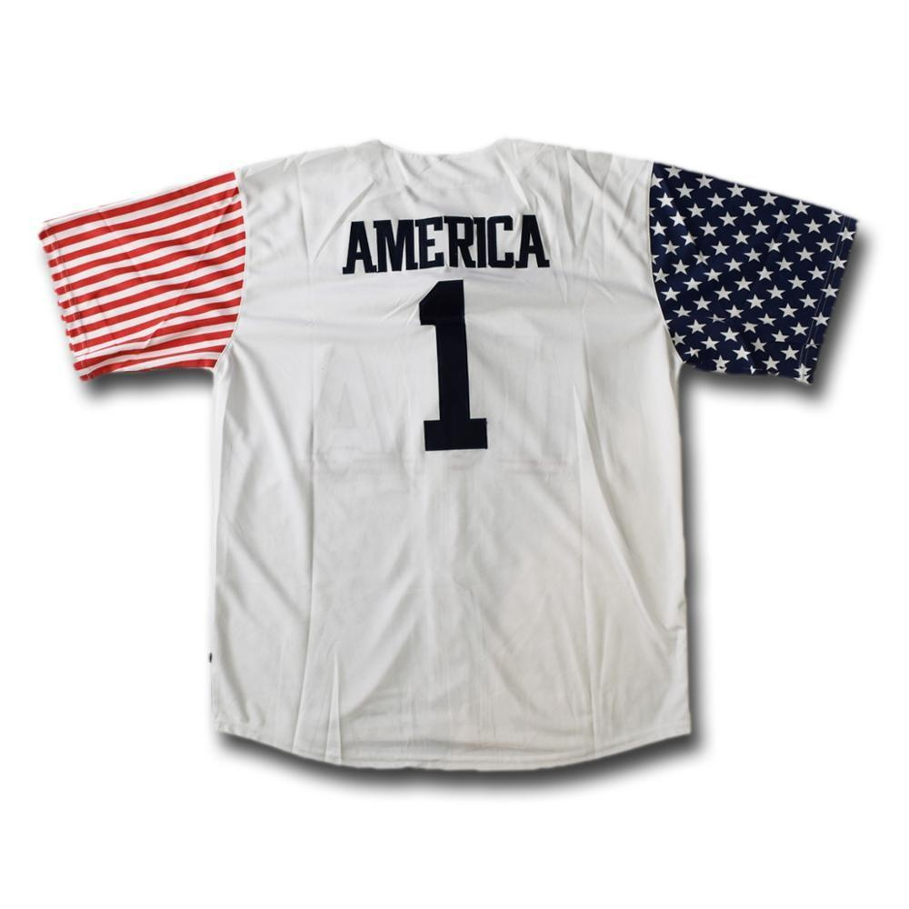 USA Stars and Stripes Baseball Jersey