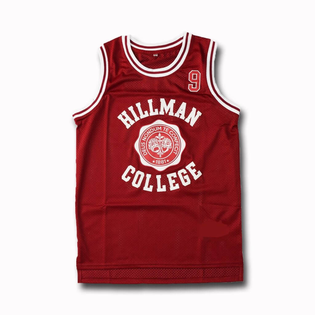 A Different World Dwayne Wayne 9 Hillman College Theater Basketball Jersey Red White Stitched #9