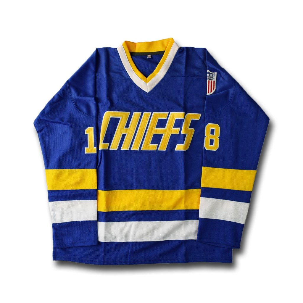 Slap Shot 18 Charlestown Chiefs Hockey Jersey Stitched