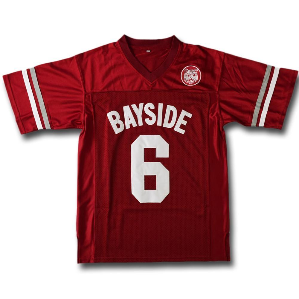 Saved By The Bell AC Slater 6 Bayside Football Jersey