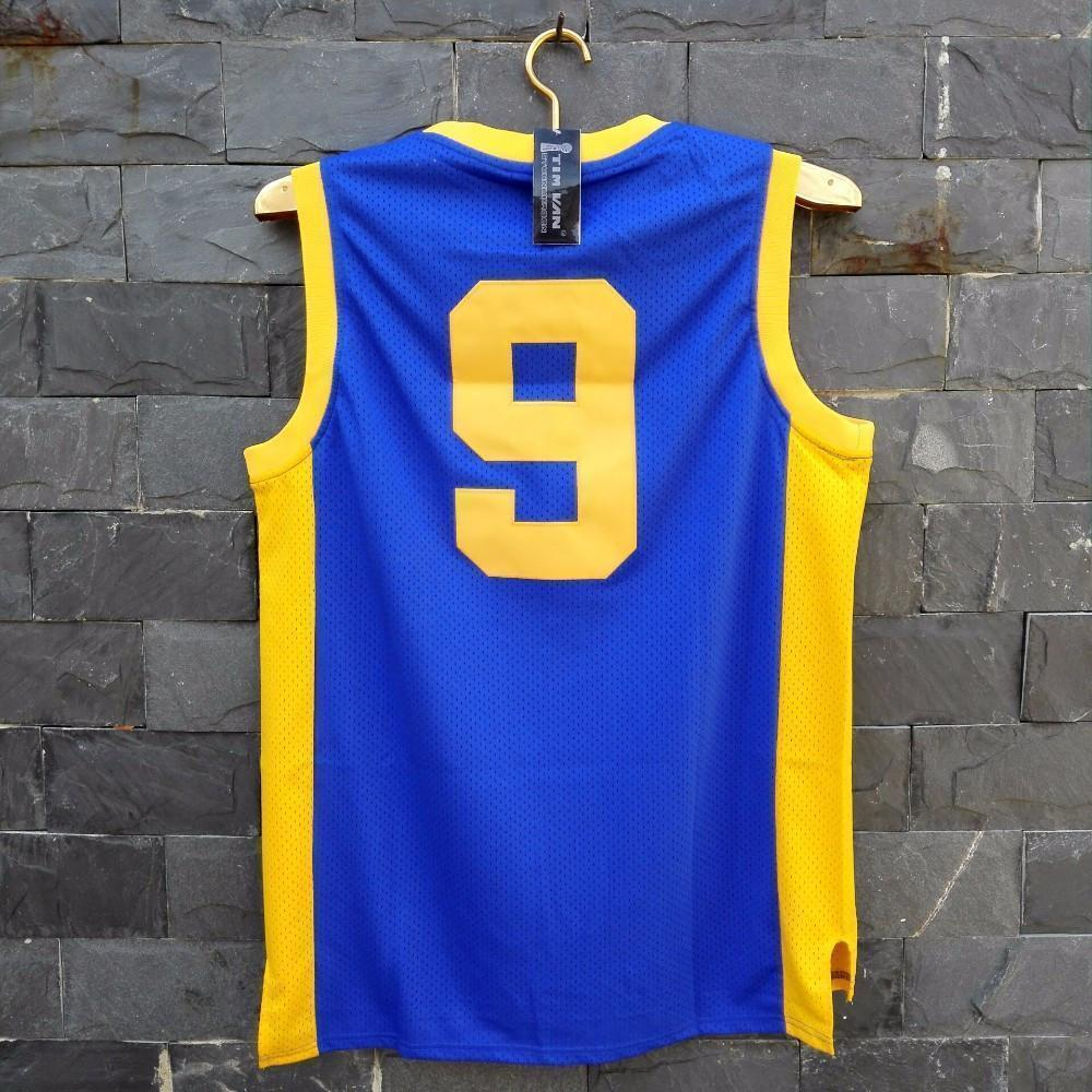 Stitched Degrassi Drake Jimmy Brooks Basketball Jersey #9 Blue