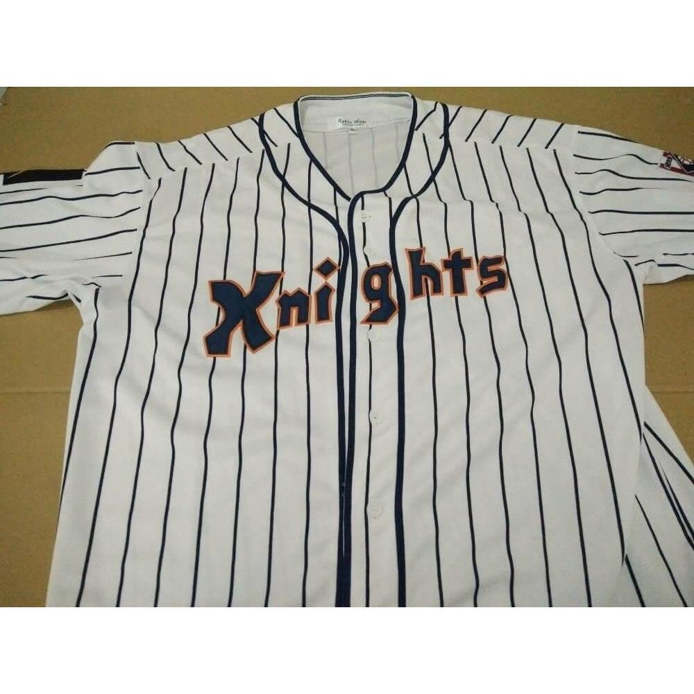 d7e53fb83 Roy Hobbs The Natural New York Knights Fully Stitched Baseball Jersey - Jersey  Champs - Custom