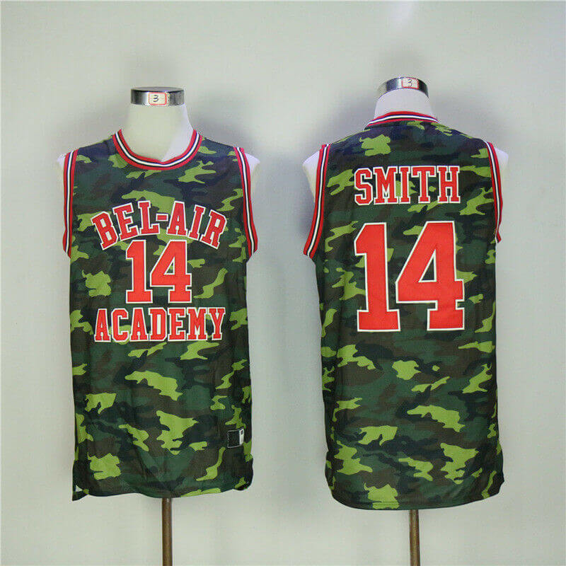 Bel Air Academy Stitched Camo Basketball Jersey
