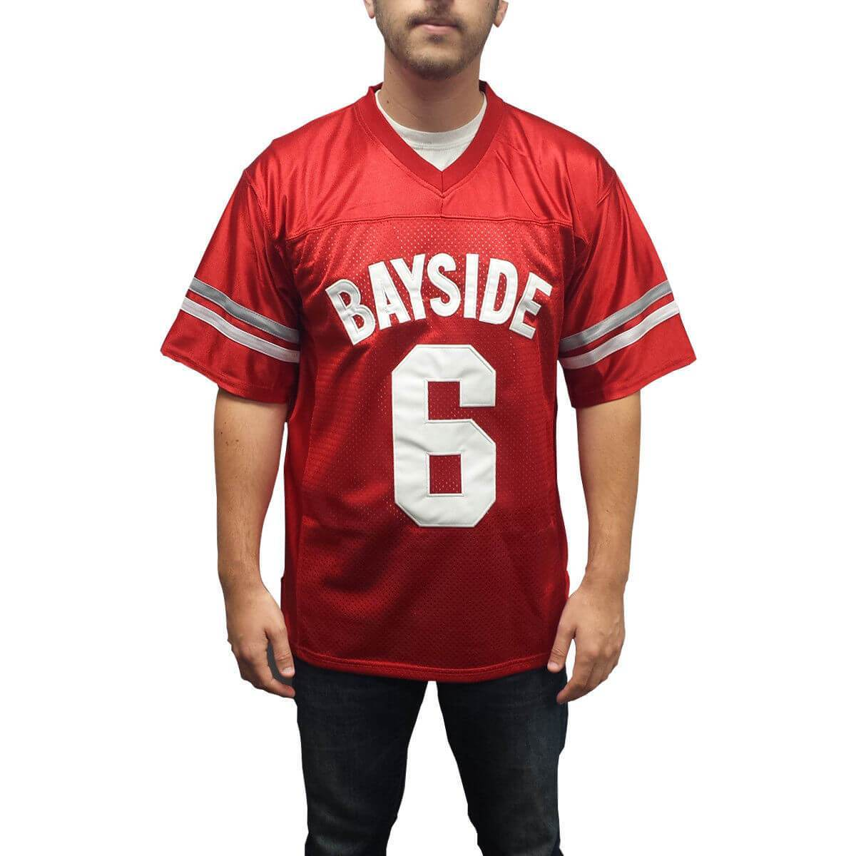 Saved By The Bell AC Slater 6 Bayside Football Jersey - Jersey Champs - Custom Basketball, Baseball, Football & Hockey Jerseys
