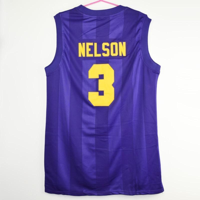 Prince Nelson #3 Bryant The Rock Star Junior High Stitched Basketball
