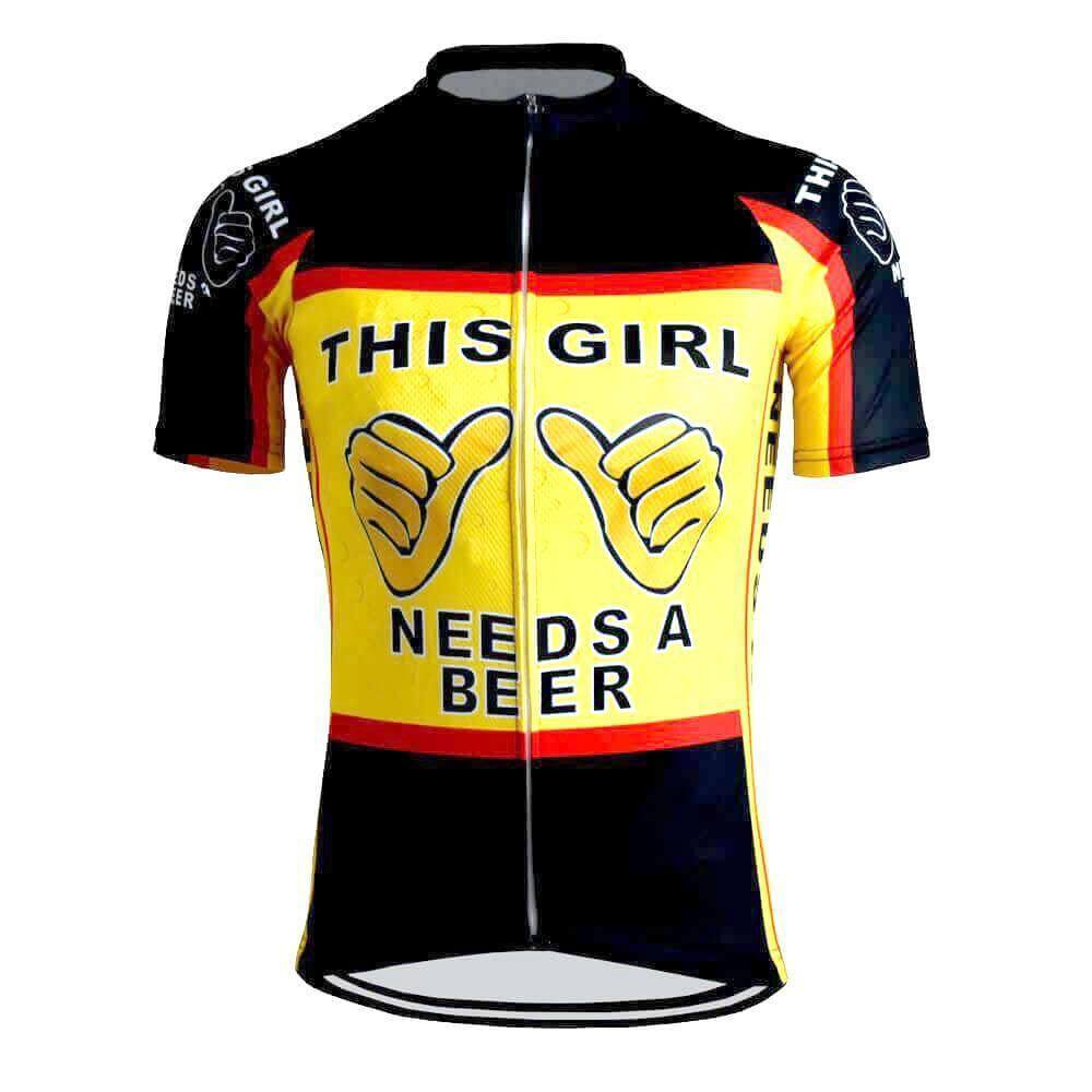 This Girl Needs a Beer Cycling Jersey