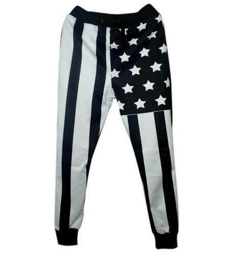 Black USA Flag Sweatpants Joggers - Jersey Champs