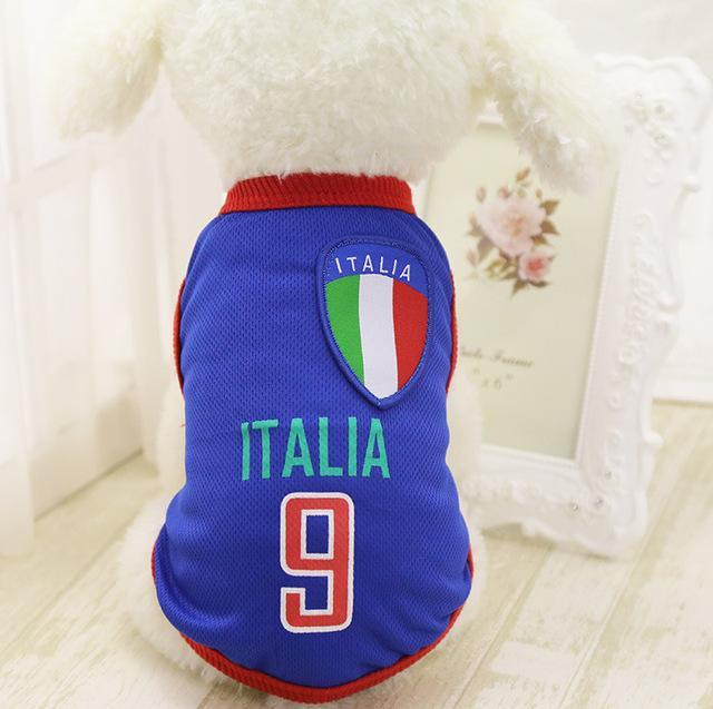 World Cup Soccer Dog Puppy Jersey Costume - Jersey Champs - Custom Basketball, Baseball, Football & Hockey Jerseys