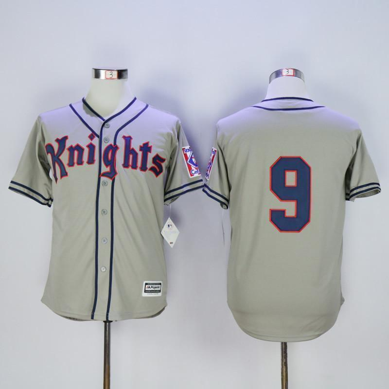 New York Knights Baseball Jersey #9 Roy Hobbs - Jersey Champs - Custom Basketball, Baseball, Football & Hockey Jerseys