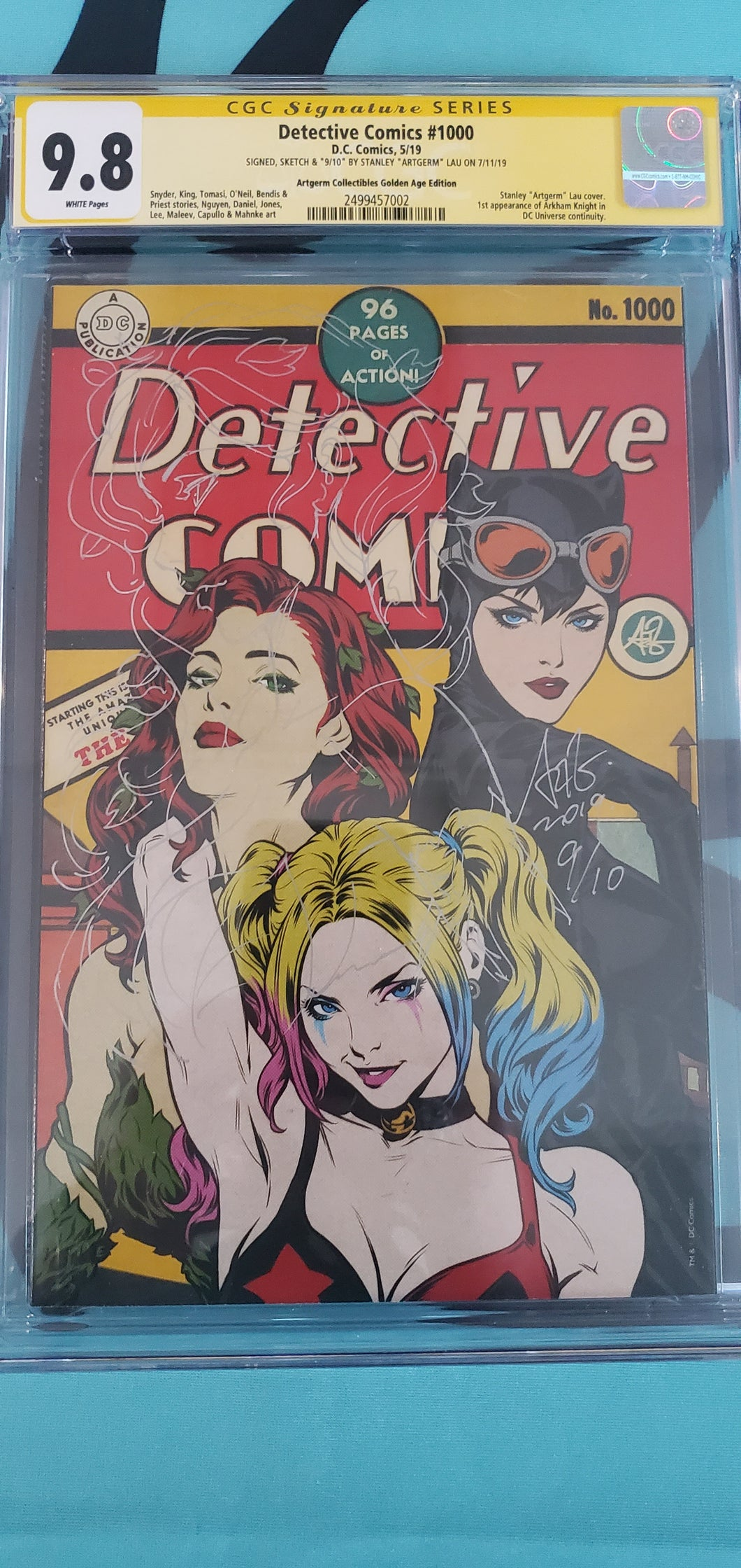Detective Comics #1000 Golden Age Variant Remarqued with Poison Ivy Hand Numbered #9/10 CGC SS 9.8