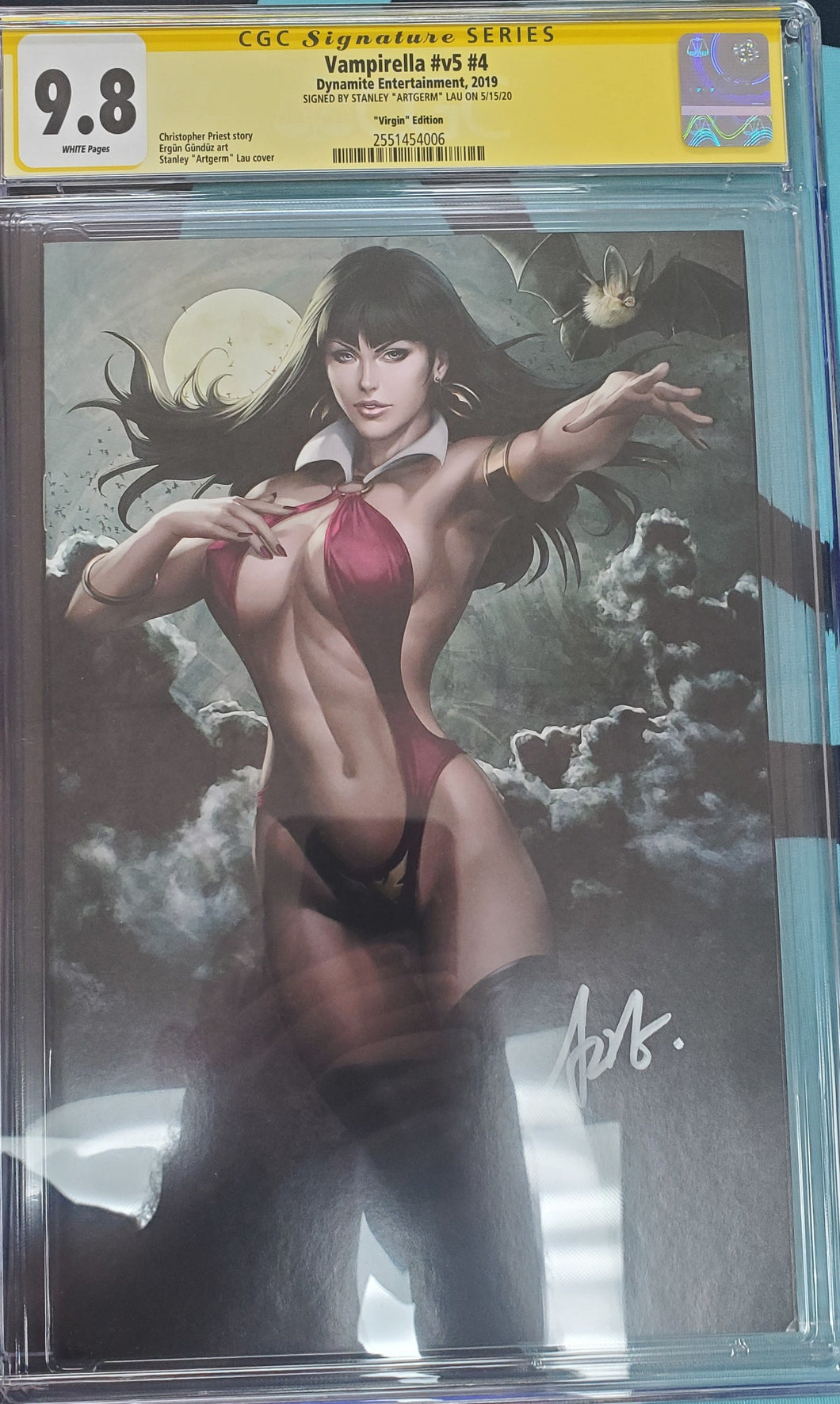 Vampirella #4 Virgin Variant Signed and Graded CGC 9.8