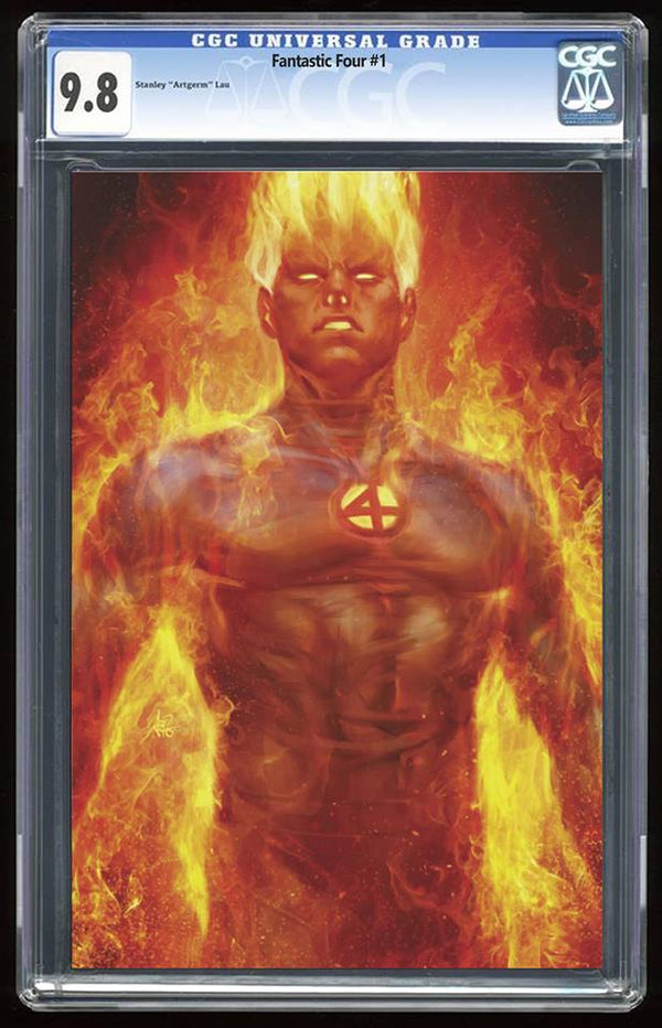 Fantastic Four #1 Human Torch Virgin Variant Graded 9.8