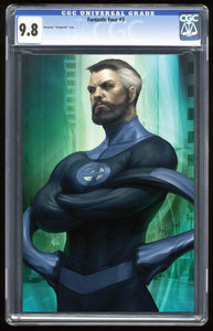 Fantastic Four #3 Mr Fantastic Virgin Variant Graded 9.8