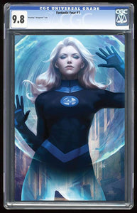 Fantastic Four #1 Invisible Woman Virgin Variant Graded 9.8