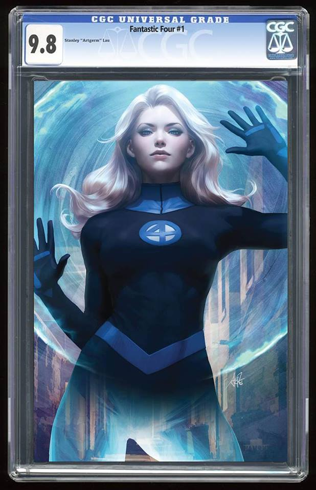 Fantastic Four #1 Unknown Comics Exclusive Invisible Woman Virgin Variant Graded 9.8