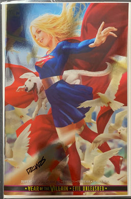 Supergirl 34 DC Boutique Foil signed by DCWJ