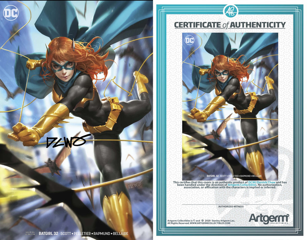 Signed with Full Metal COA Batgirl #32 DCWJ Variant