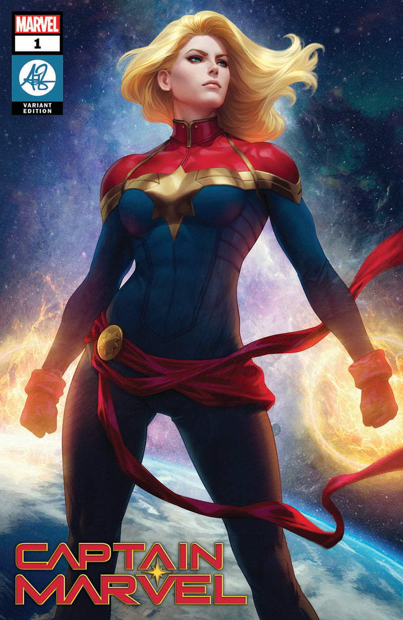 Signed With Metal COA Captain Marvel #1 Artgerm Collectibles Exclusive Trade Dress