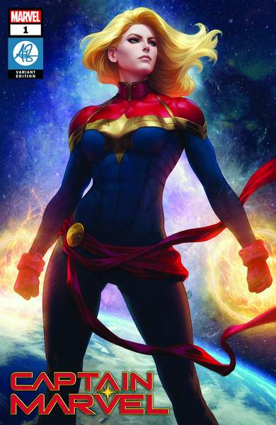 RETAIL option Captain Marvel #1000 Artgerm Collectibles Exclusive Trade Dress