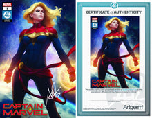 Load image into Gallery viewer, Signed With Metal COA Captain Marvel #1 Artgerm Collectibles Exclusive Trade Dress