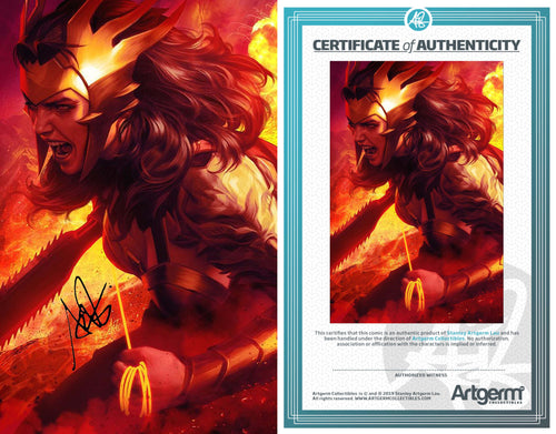 Signed with Metal COA Dark Night: Death Metal #1 Artgerm Variant (5/13/2020 Release)