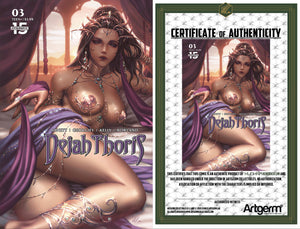 Signed with Metal COA Dejah Thoris #3 Kunkka Cover (2/20/20 Release)