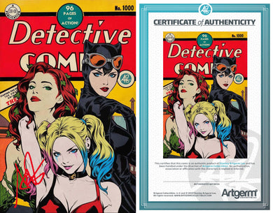 Signed with Full Metal COA Detective Comics #1000 Golden Age Variant