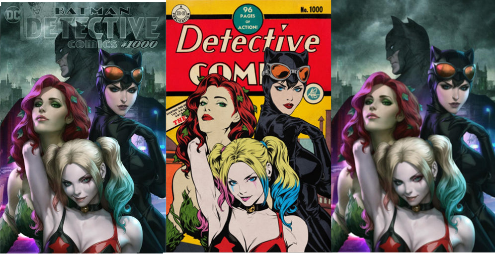 RETAIL PACK of 50: Detective Comics #1000 Artgerm Collectibles Exclusive 3 Book Set