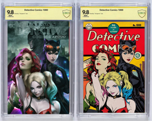 Load image into Gallery viewer, Detective Comics #1000 Artgerm Collectibles Exclusive Two Book Set Graded Guaranteed 9.8