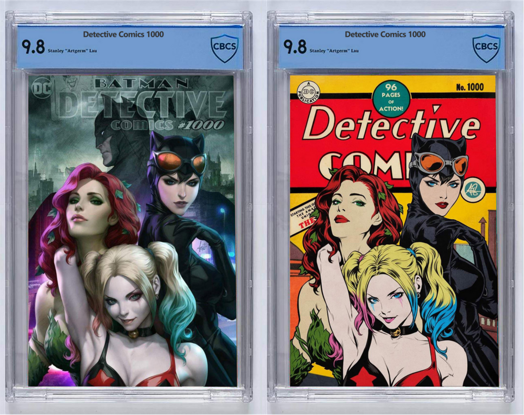 Detective Comics #1000 Artgerm Collectibles Exclusive Two Book Set Graded Guaranteed 9.8