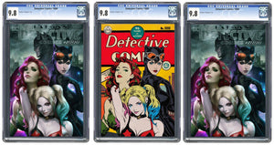Detective Comics #1000 Artgerm Collectibles Exclusive Three Book Set Graded Guaranteed 9.8
