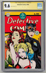 Detective Comics #1000 Golden Age Variant Signed And Graded CGC SS 7.0-9.6