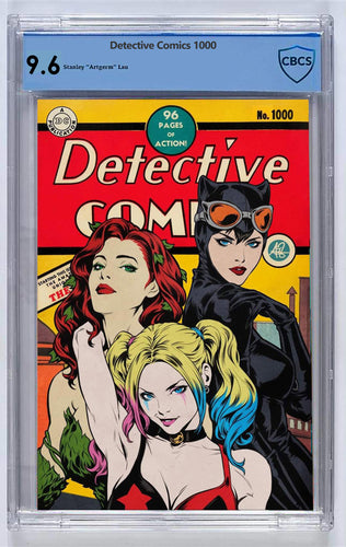 Detective Comics #1000 Artgerm Collectibles Exclusive Golden Age Variant CBCS 9.6