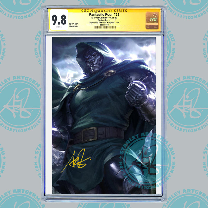 Fantastic Four #25 1:100 Artgerm Virgin Variant CGC Graded Guaranteed 9.8