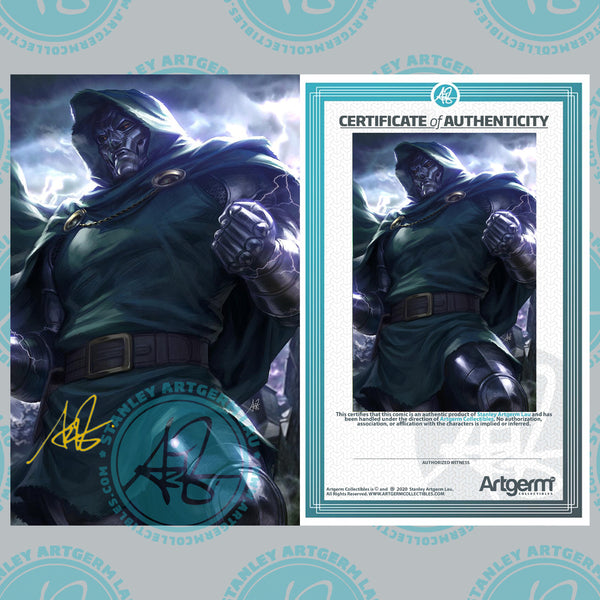 Signed with Metal COA Fantastic Four #25 1:100 Artgerm Virgin Variant