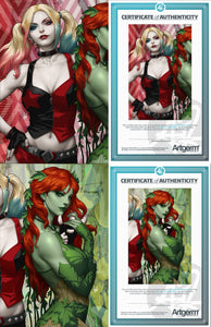 Signed with Metal COA Harley and Ivy #1 Artgerm Variants (PRE-ORDER - 9/4/2019 release date)