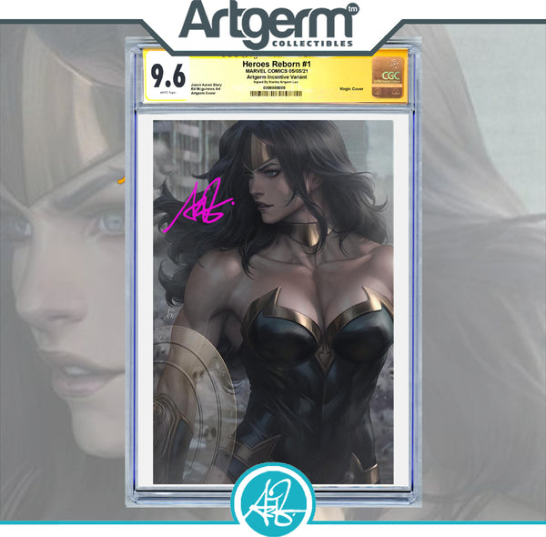 Heroes Reborn #1 Artgerm Virgin Variant Graded 9.6+