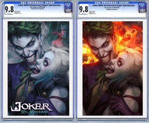 Joker 80th Anniversary Super Spectacular Artgerm Collectibles Exclusive 2 Book Set Graded Guaranteed 9.8 CGC (Release 4/29/20)