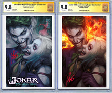Load image into Gallery viewer, Joker 80th Anniversary Super Spectacular Artgerm Collectibles Exclusive 2 Book Set Graded Guaranteed 9.8 CGC (Release 4/29/20)