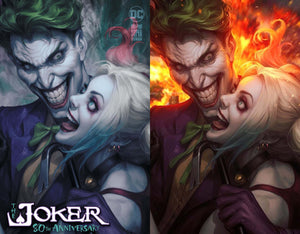 Joker 80th Anniversary Super Spectacular Artgerm Collectibles Exclusive 2 Book Set (Release 4/29/20)