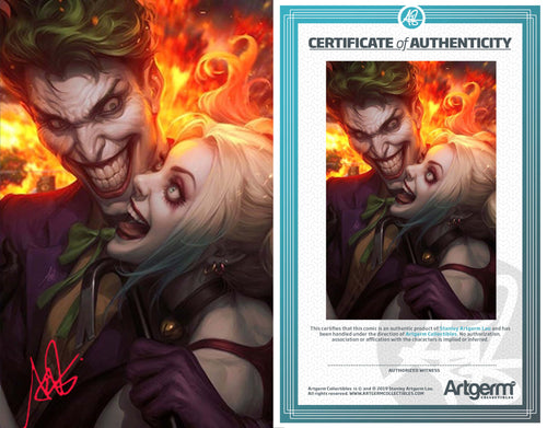 Signed with Metal COA Joker 80th Anniversary Super Spectacular Artgerm Collectibles Exclusive Variants (Release 4/29/20)