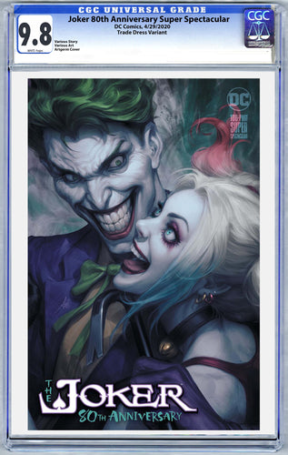 Joker 80th Anniversary Super Spectacular Artgerm Collectibles Exclusive Trade Dress Graded Guaranteed 9.8 CGC (Release 4/29/20)