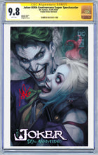 Load image into Gallery viewer, Joker 80th Anniversary Super Spectacular Artgerm Collectibles Exclusive Trade Dress Graded Guaranteed 9.8 CGC (Release 4/29/20)