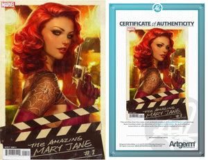 SECRET VARIANT! Signed with Metal COA The Amazing Mary Jane #1 Artgerm Variant (PRE-ORDER - 10/23/2019 release date)