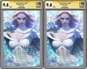 Marvel Comics #1000 Artgerm Collectibles Exclusive Two Book Set Graded 9.8