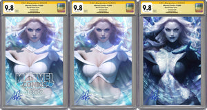 Marvel Comics #1000 Artgerm Collectibles Exclusive Three Book Set Graded 9.8